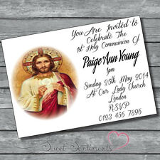 Pack of 10 Personalised 1st Holy Communion Invitations - A6 style Glossy card 3