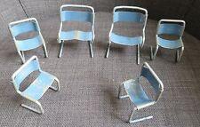 SALON MINIATURE EN METAL composé de 4 chaises et 2 fauteuils type design 1960-70