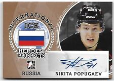 2016-17 Leaf ITG H&P International Ice Nikita Popugaev Bronze Auto RC NJ Devils