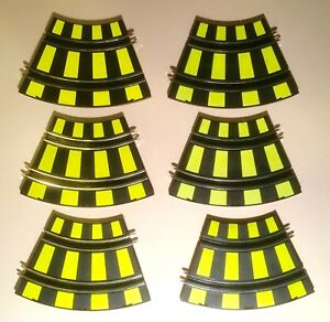 6 Sections of Artin 1/43 Scale Curved Slot Car Track 1122204