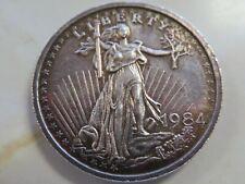 1984 Silver Trade Unit St Gauden's and Eagle 1/2 oz .999 silver round