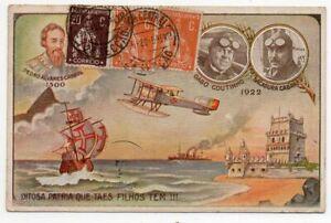 1922 PORTUGAL TO ARGENTINA SPECIAL FLIGHT COLOR COVER, ESPERANTO !!