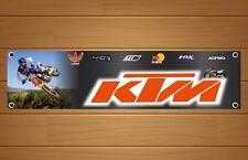 KTM | MotoCross | Racing | Banner Sign Garage Workshop | PVC Sign | RB009