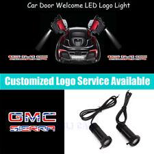 2Pcs GMC SIERRA US Flag Logo Car Door LED Light Projector for 1500 2500 3500 HD