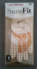 White & Peach LPGA Lady Fairway Women's Sure Fit Golf Glove, Left Handed, Large