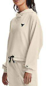 Under Armour Women's Project Rock Terry Pullover Hoodie (Summit White) 1361059