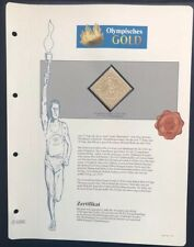 Olympics Tokyo 1964 Japan Gold stamp with 99,8% Goldauflage Only 4.999 MNH 3/10