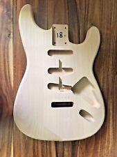 Stratocaster Guitar Body / unfinished reject /Alder / no 18