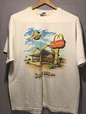 New listing 1994 McDonalds Promo The Flintstones Roc Donalds T-Shirt Adult Mens Xl Faded