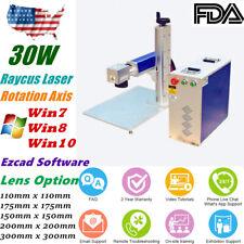 New listing 30W Split Fiber Laser Marking Machine Engraving Engraver Machine + Rotary Axis