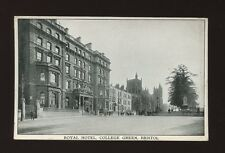 Glos Gloucestershire BRISTOL Royal Hotel College Green used c1900s PPC