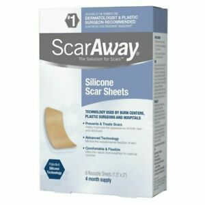 ScarAway Silicone Scar Sheets - 8 Count