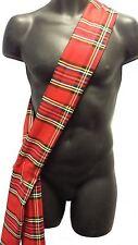 Robert Burns Night 6ft Scottish Commonwealth Games Red Royal Stuart Tartan Sash