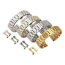 Solid Stainless Steel  Bracelet Watch Band Strap Curved+Straight End 18mm-22mm