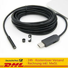 2m Endoskop 6LED 7mm USB Wasserdicht Rohrkamera Inspektionskamera Endoscope