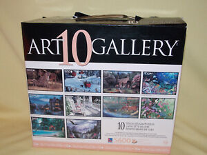 Art Gallery 10 Different Puzzle 5600 Total Pieces Wildlife Scenery Shipwreck