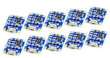 10 Stück Lipo Lion 1S Akku Lademodul TP4056 für Solar charger Arduino Micro USB