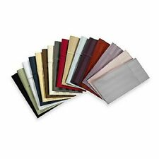 """Extra Large King Pillow Cases 20"""" x 36""""- 1 Pair Solid/Str Colors Egyptian Cotton"""