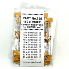 PACK OF 110 NEW MIXED SRS AIRBAG DIAGNOSTIC RESISTORS .25W 3 4 6 7 8 9 OHM OHMS