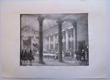 Lithographie, XIXe, Napoléon, Diner à l'Hôtel de Ville