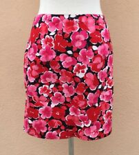 Allison Taylor Petite Skirt Mini Straight Floral Printed Red Pink Black White 8P