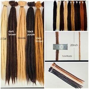 "100% Handmade 20"" Dreadlocks  Crotchet Hair Kanekalon Synthetic Extensions Braid"