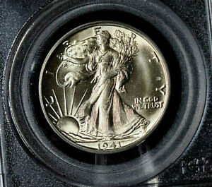 1941-S WALKING LIBERTY HALF MS 64 PGCS GRADED LOOKS GEM TO ME (graded low) CLEAN