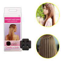 7pcs Twist Roller Hair Styling Tools Weave Waterfall Braid Maker Hairstyle QP