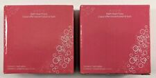 New Sealed Lot of 2 AVON Bath Heart Fizzy Effervescent Bath Tablets