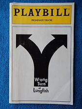 Wrong Turn At Lungfish - Promenade Playbill - June 1993 - Fritz Weaver
