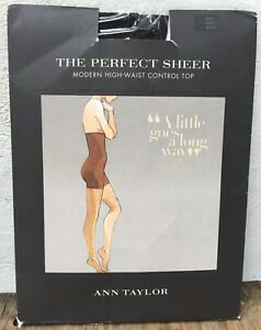 New Ann Taylor Sz S the Perfect Sheer Modern High Waist Control Top Black