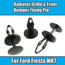 10x Clips For Ford Fiesta MK7 Radiator Grille & Front Bumper Fixing Pin Black