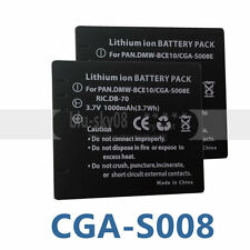 2pk CGR-S008 Battery for PANASONIC VW-VBJ10 VWVBJ10 SDR-S26 SDRS26 Camcorder