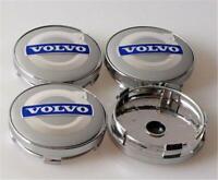 4x 60mm Volvo argent bleue jante couvercle moyeux capuchon roue enjoliveur caché
