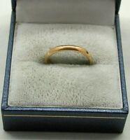 22ct Gold Plain Narrow  Samuel Hope Wedding Ring
