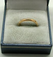 22ct Gold Plain Narrow  Samuel Hope Wedding Ring