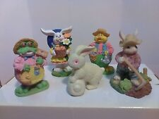 5 Piece Colorful Resin Spring Gardening Character Figurines