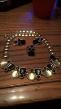 Gold Plated Black Enamel 3 Pieces Set