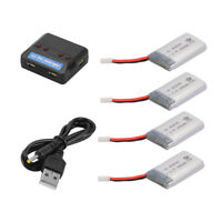 Charger + 4pcs 3.7V 600mAh Lipo Battery for Syma X5C X5C X5SC X5SW RC Quad BC685
