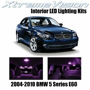 XtremeVision Interior LED for BMW 5 Series E60 2004-2010 (17 PCS) Pink