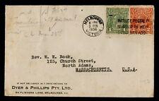 Dr Who 1936 Australia Melbourne To Usa C219587