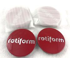 RotiForm Red Custom Wheel Center Caps # 1003-40RC (SET OF 4)