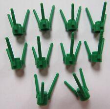 LOT DE  10 LEGO 3741 / 374128 TIGE POUR FLEURS VERT   NEUF !