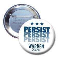 Elizabeth Warren Vote 2020 Button Democrat Donkey Candidate Pin Election Persist