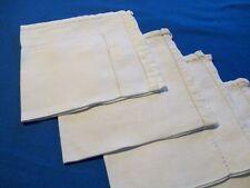 Lot de 4 serviettes anciennes en lin et coton, jours...