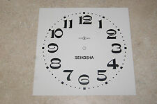 ONE SEIKOSHA PAPER DIAL 7 1/4 INCH TIME TRACK WHITE DIAL