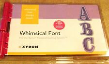 XYRON PERSONAL CUTTING WHIMSICAL FONT ALPHABET SCRAPBOOKING CRAFTS 100S SHAPES