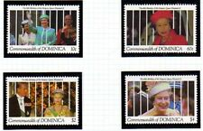 DOMINICA 1991 QUEEN 65th BIRTHDAY SET OF ALL 4 COMMEMORATIVE STAMPS MNH