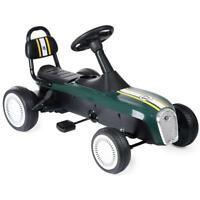 Xootz Retro Racer Kids Steel Pedal Go Kart Racing Ride-On Green White WB-TY5909A