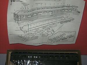 HO Roundhouse Kit: 80ft Pullman Palace Heavyweight Observation Truss rod C-9 bd